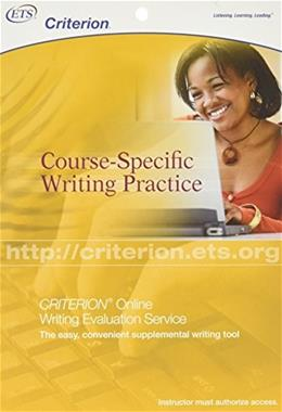 Criterion: Course-Specific Writing Practice, by ETS, Register Card Only PKG 9780886853822