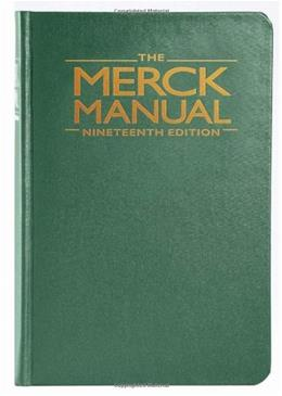 Merck Manual of Diagnosis and Therapy, by Porter, 19th Edition 9780911910193