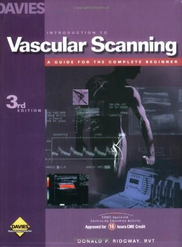 Introduction to Vascular Scanning, by Ridgeway, 3rd Edition, WORKTEXT 9780941022705