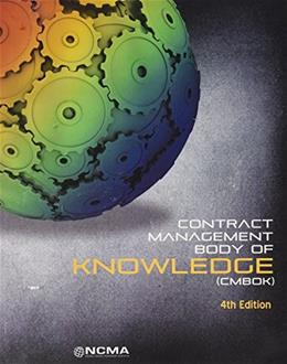 Contract Management Body of Knowledge (CMBOK), by Rumbaugh 4th Edition 9780970089779
