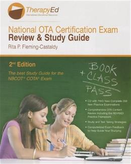 National OTA Certification Exam Review and Study Guide, by Fleming-Castaldy BK w/CD 9780984339327