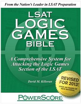 PowerScore LSAT Logic Games Bible, by Killoran, 4th Edition 9780988758667