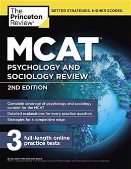 MCAT Psychology and Sociology Review, 2nd Edition (Graduate School Test Preparation) 9781101920602