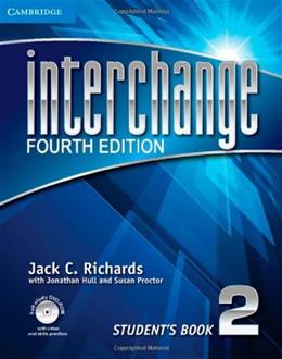 Interchange, by Richards, 4th Edition, Level 2, Students Book 4 w/DVD 9781107648692