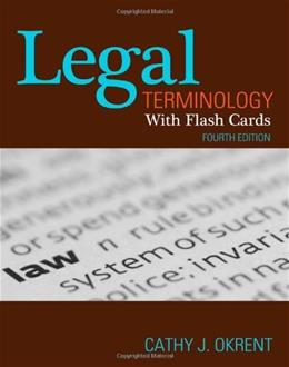 Legal Terminology with Flashcards 4 PKG 9781111136796