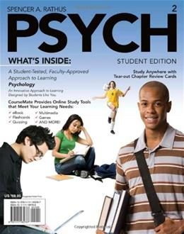 PSYCH, by Rathus, 2nd Edition 2 PKG 9781111185787