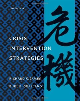 Crisis Intervention Strategies, by James, 7th Edition 7 w/DVD 9781111186777