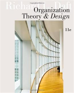 Organization Theory and Design 11 9781111221294