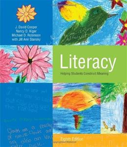 Literacy: Helping Students Construck Meaning, by Cooper, 8th Edition 9781111298104