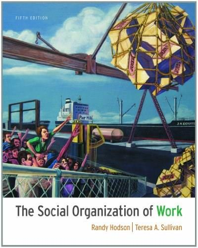 The Social Organization of Work 5 9781111300951