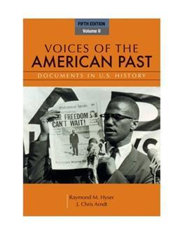 Voices of the American Past, Volume II 5 9781111341268