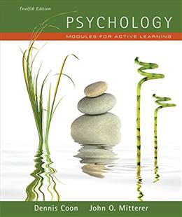 Psychology: Modules for Active Learning, by Murphey, 12th Edition, Study Guide 9781111343576