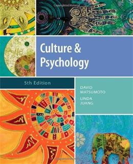 Culture and Psychology, 5th Edition 9781111344931