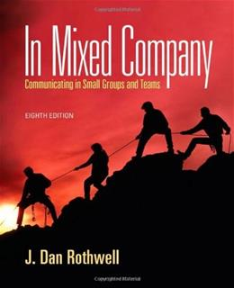 In Mixed Company: Communicating in Small Groups 8 9781111346850