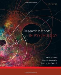 Research Methods in Psychology 9 9781111350741