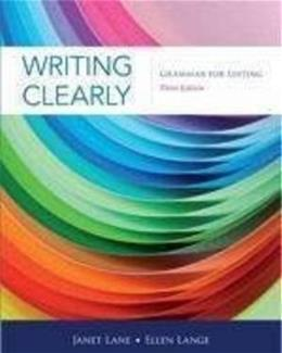 Writing Clearly: Grammar for Editing, 3rd Edition 9781111351977