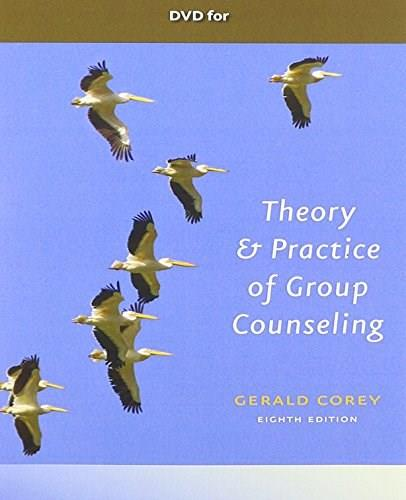 Theory and Practice of Group Counseling, by Corey, 8th Edition, DVD-ROM ONLY 8 DVD-ROM 9781111352400