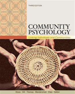 Community Psychology: Linking Individuals and Communities 3 9781111352578