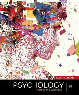 Psychology: Themes and Variations, 9th Edition 9781111354749