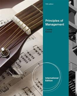 Principles of Management, by Kreitner, 12th INTERNATIONAL Edition 9781111525644