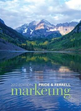 Marketing, by Pride, 16th Edition 9781111526191
