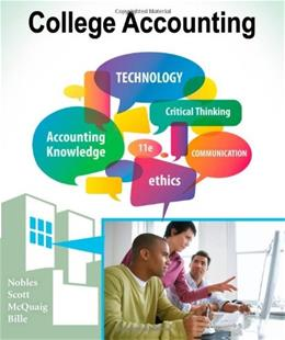 College Accounting, by Nobles, 11th Edition, Chapters 1-24 9781111528300