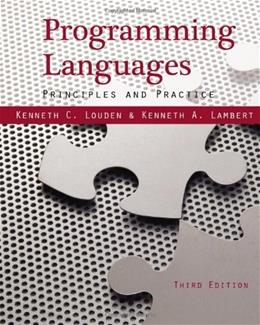 Programming Languages: Principles and Practices, by Louden, 3rd Edition 9781111529413