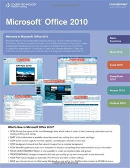 Microsoft Office 2010, by Course Technology, Coursenotes 9781111529505