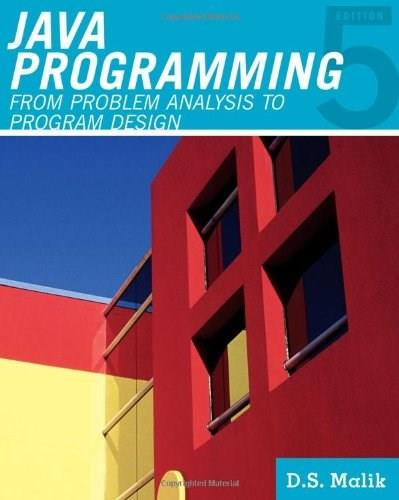 Java™ Programming: From Problem Analysis to Program Design (Introduction to Programming) 5 w/CD 9781111530532