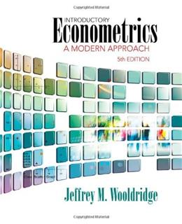 Introductory Econometrics: A Modern Approach (Upper Level Economics Titles) 5 9781111531041