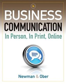 Business Communication: In Person, In Print, Online 8 9781111533168
