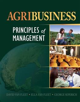 Agribusiness: Principles of Management, by Van Fleet 9781111544867