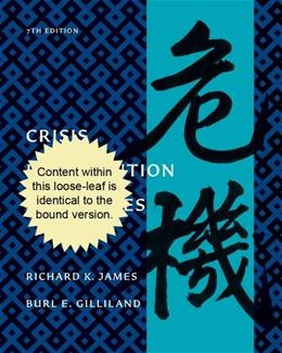Crisis Intervention Strategies, by James, 7th Edition 9781111770617