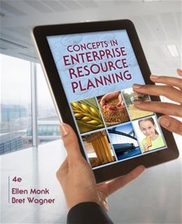 Concepts in Enterprise Resource Planning, by Monk, 4th Edition 9781111820398