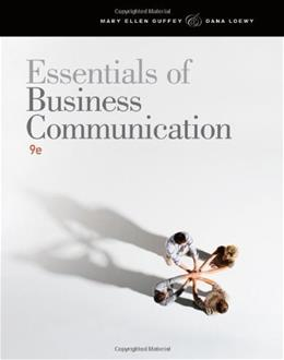Essentials of Business Communication, by Guffey, 9th Edition 9 PKG 9781111821227