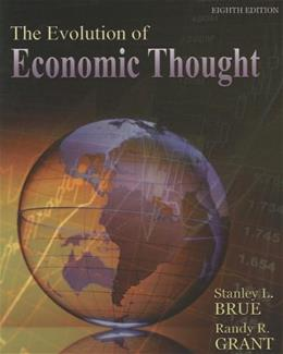 Evolution of Economic Thought, by Brue, 8th Edition 9781111823689