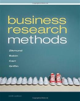 Business Research Methods (with Qualtrics Printed Access Card) 9 PKG 9781111826925