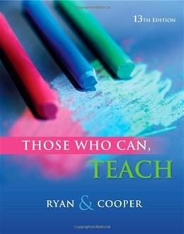 Those Who Can, Teach 13 9781111830281