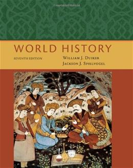 World History, by Duiker, 7th Edition 9781111831653