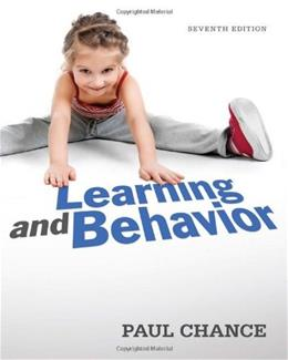 Learning and Behavior 7 9781111832773