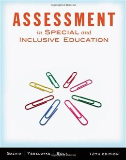 Assessment: In Special and Inclusive Education 12 9781111833411