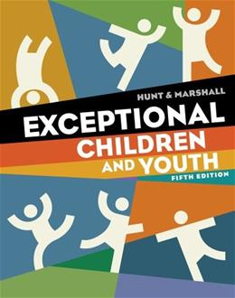 Exceptional Children and Youth 5 9781111833428