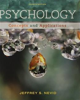Psychology - Concepts & Applications textbook only - 4th Edition - Nevid 9781111835491