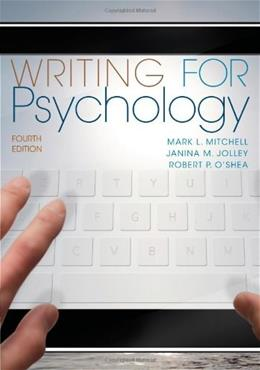 Writing for Psychology 4 9781111840631