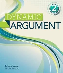 Dynamic Argument, by Lamm, 2nd Edition 9781111841065
