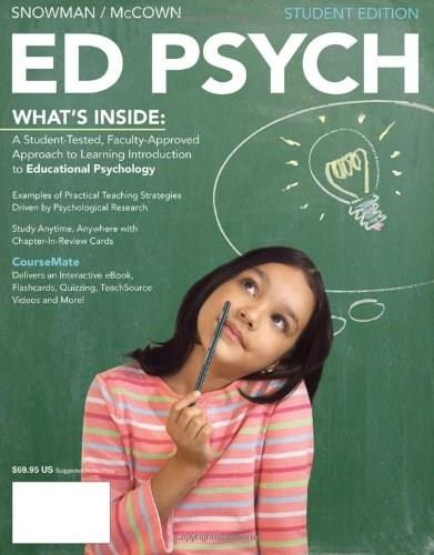 ED PSYCH (with CourseMate, 1 term (6 months) Printed Access Card) (New 1st Editions in Education) PKG 9781111841935