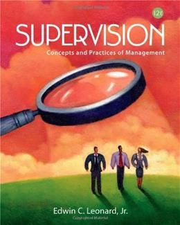 Supervision: Concepts and Practices of Management 12 9781111969790