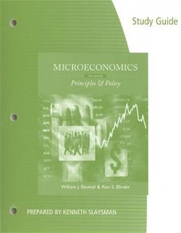Microeconomics, by Baumol, 12th Edition, Study Guide 9781111970000