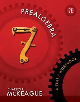 Prealgebra: A Text/Workbook (Textbooks Available with Cengage Youbook) 7 9781111986865