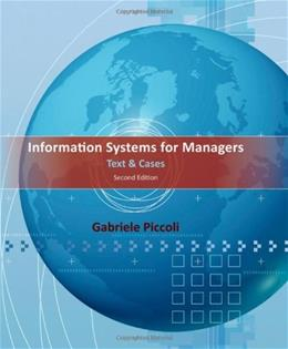 Information Systems for Managers: Text and Cases 2 9781118057612